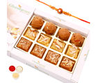 Ghasitaram Gifts Rakhi Sweets- North Indian Mix In White Box-R3
