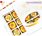Ghasitaram Gifts Rakhi Sweets Assorted Mawa Peda 12 Pcs White Box-200Gms -R4