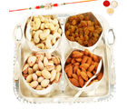 Ghasitaram Gifts Set Of 4 Rose Cut Bowls With Dryfruits-R2
