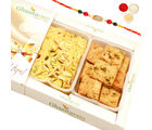 Ghasitaram Gifts Rakhi Sweets- Soan Papdi And Methi Mathri Hamper-R4