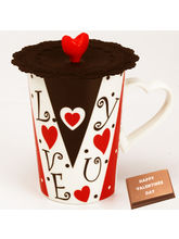 Ghasitarams Valentine Gifts Love Cup with Valentine Chocolate Bar