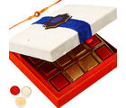 Ghasitaram Gifts Rakhi Chocolates-White Chocolate Box