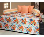 AB Home Decor 100% Cotton Beautiful Diwan Sets AT212 ( Set Of 6 Pieces), multicolor