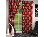AB Home Decor Window Curtains (Set of 2) - 5 Feet x 4 Feet, red
