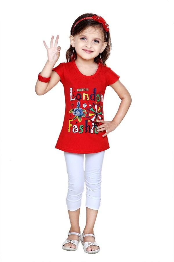 La Bele Casual Soft Cotton Top (LB599), red, 28