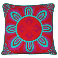 Sublime Pink Ice Blue Flower Cushion Cover