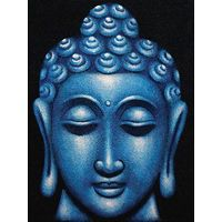 Painting Blue Shade Lord Buddha Face