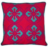 Graceful Ice Blue Flower Cushion Cover