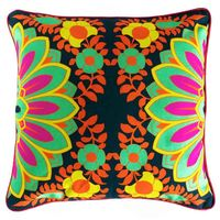 Blooming Mint Green Flower Cushion Cover