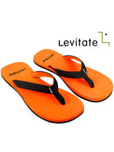 Levitate Men Flip Flops SLEEK (LVTFF3008), fluorescent orange, 9