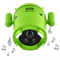 USB Android Robot MP3 Player Micro SD FM In Built Speaker