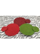 Welhouse India Round Placemat with Coaster - Pack of 3 (C3_ TP_ R-12)