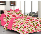 Welhouse India Double Bed Sheet & 4 Pillow Covers (MT_ YTD-062), multicolor