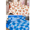 Welhouse India Combo of 2 Cotton Double Bed Sheet with 4 Pillow Covers - TC-250 (MTMOC251)