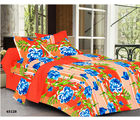 Welhouse India Double Bed Sheet & 4 Pillow Covers (MT_ YTD-095), multicolor