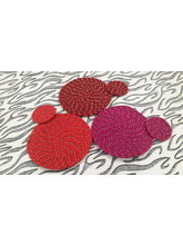 Welhouse India Round Placemat with Coaster - Pack of 3 (C3_ TP_ R-13)