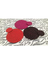 Welhouse India Round Placemat with Coaster - Pack of 3 (C3_ TP_ R-15)