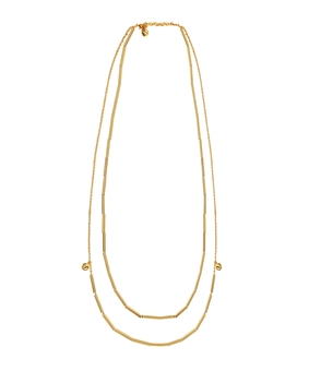 Micare Tube Necklace, gold