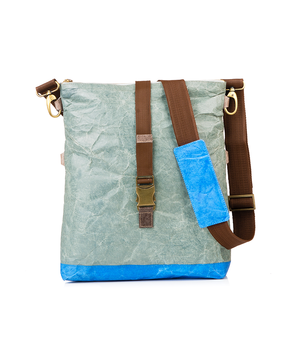 Kassa Wafer Foldover Bag, blue