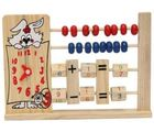 Kuhu Creations Wooden 2-Row Abacus Counting 8 Beads Per-row Maths Learning Educational Kids Toy