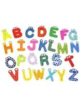 Kuhu Creations Wooden Alphabet Magnet Sticker, Mul...