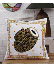 Hand Painted Tanjore Dholak Cushion Cover