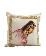 Hand Painted Maharani Cushion Cover