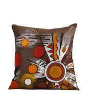 Hand Painted Abstract Universe Cushion Cover