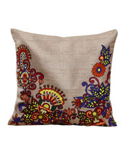 Hand Painted Floral Cushion Cover
