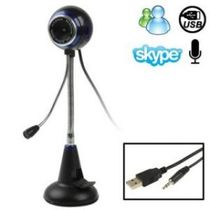 Webcam USB With Mic Sticky Stand 360* Rotate