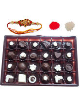 HomChoc Box Of 24 Chocolates Rakhi Gift For Brothe...