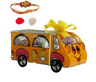 HomChoc Big Bus Of Chocolates Rakhi Gift For Brother, multicolor