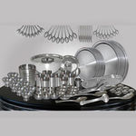 TVC Platinum 111 Pcs Stainless Steel Dinner Set,  silver