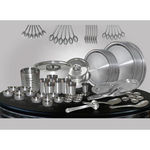 TVC Gold 71 Pcs Stainless Steel Dinner Set,  silver
