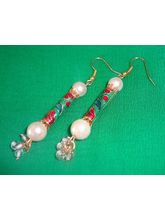 Pearl And Meenakari Earrings-ME079