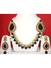 Stunning Black Necklace-KNL065
