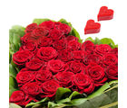 Gifts valley HeartShape Arrangement of 40 Red Roses With 2 Heart Shape Candles on Valentine