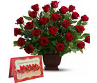 Gifts valley Valentine Arrangement of 25 Red Roses
