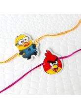 Giftacrossindia Kids Two Rakhi Set Of Minion And A...