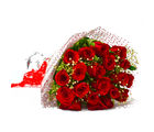 Giftacrossindia Fresh 25 Red Roses Hand Bunch (GAIMPHD0537), 1000 gms