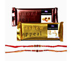 Giftacrossindia Temptations Chocolate And Set Of Two Rakhi Express (GAIR2016005)