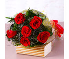 Giftacrossindia Six Red Roses Bouquet (GAIMPHD0075), 1000 gms