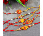 Giftacrossindia Combo of 5 Traditional Rakhi