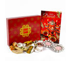 Giftacrossindia Traditional Diya Hamper with Assorted Sweet and Greeting Card