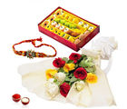 Giftacrossindia Mix Roses With Assorted Sweets And Rakhi Express (GAIR2016298)