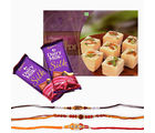 Giftacrossindia Cadbury Silk Chocolate With Rakhi Express And Soan Papdi (GAIR2016090)