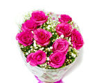 Giftacrossindia Fresh Ten Pink Roses Bouquet (GAIMPHD0052), 1000 gms