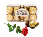 Gifts valley Ferrero Rocher and Rose for Your Love on Valentine