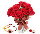 Giftacrossindia Red Roses With Rakhi Express (GAIR2016162)
