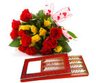 Gifts valley 18 Bunch of Roses and Kaju Katli Treat